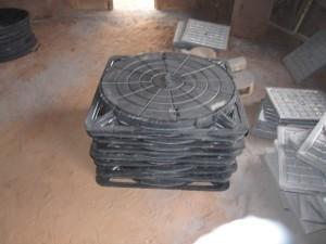 Manhole bulat 60 cm Frame Kotak