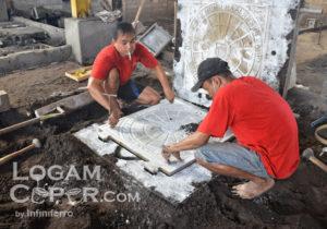 proses membuat cetakan pasir